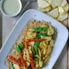 Grilled Summer Vegetables with Creamy Lemon Vinaigrette {+ a bit of news!}
