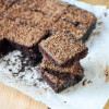 Vegan Cocoa Brownies with Chocolate Fudge Frosting