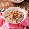 Vegan Swiss Oatmeal with Hazelnuts and Pears