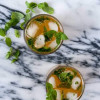 Boozy Green Tea Mint Cooler