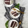 Vegan Mint Chocolate Chip Cake