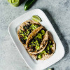 Black Eyed Pea and Kale Tacos with Avocado Jalapeno Sauce
