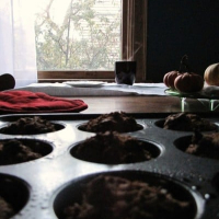 Dark Chocolate Vegan Pumpkin Muffins