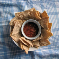 Homemade Tortilla Chips and Fresh Salsa