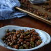 Crunchy Roasted Edamame with Chickpeas