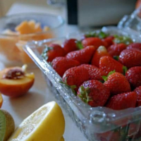 Summer Fruit and Strawberry Sangria