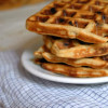 Vegan Banana Chocolate Waffles