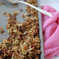 Cranberry Banana Bread Granola with Pepitas