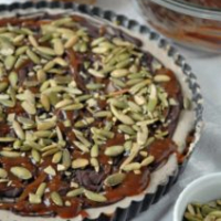 Creamy Dark Chocolate and Caramel Pepita Tart