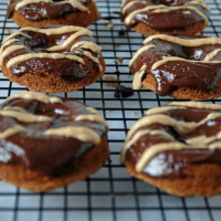 Dark Chocolate Peanut Butter Doughnuts