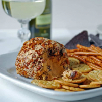 Vegan Spicy Cheese Ball with Sriracha and Lime