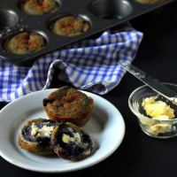 Blueberry Cornmeal Muffins (Oil-free)
