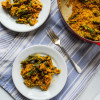 Mushroom-Free Vegan Green Bean Casserole with Caramelized Onions