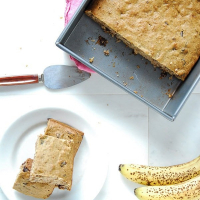 Vegan Banana Chocolate Chip Snack Cake