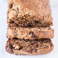 Vegan Dark Chocolate Stout Banana Bread