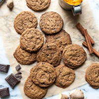 Dark Chocolate Pumpkin Vegan Gingersnaps