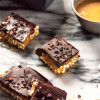 Peanut Butter and Dark Chocolate Puffed Millet Bars