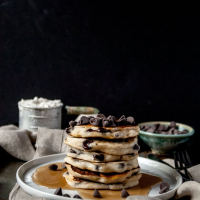 Vegan & Gluten Free Chocolate Chip Pancakes