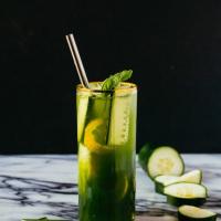 Sparkling Cucumber Basil Lemonade