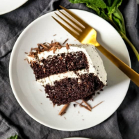 Vegan Mint Chocolate Cake