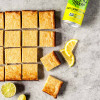 Lemon Vegan Lime Bars with Shortbread Crust