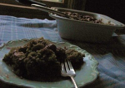 Vegan Cherry Pie Coffee Cake with Almond Frosting