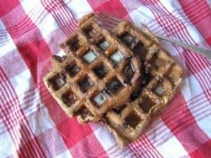 Peanut Vegan Chocolate Chip Waffles