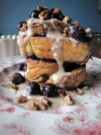 Amaretto Creme Vegan French Toast