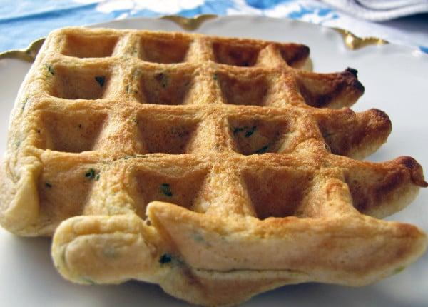 Vegan Cornmeal Waffles with Creamy Sage Gravy and Pan Fried Potatoes