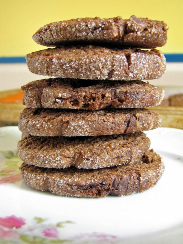 Chocolate Baileys Peanut Butter Icebox Cookies