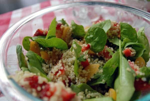 Strawberry and Spinach Quinoa Salad