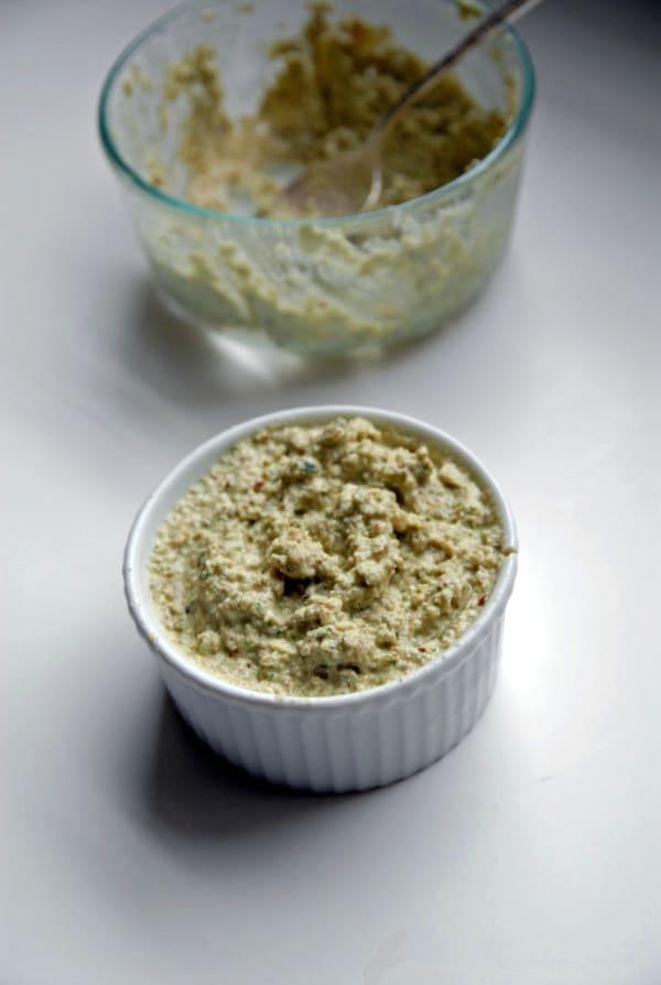 Vegan Goat Cheese Pesto Dip