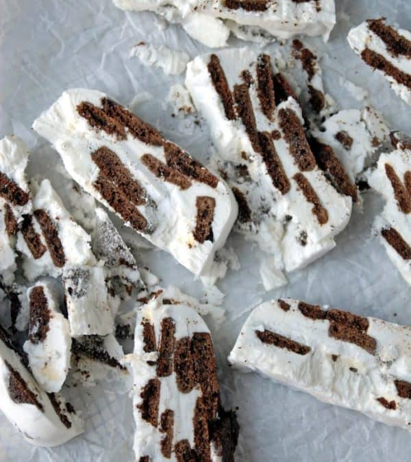 Vegan Icebox Cake with Homemade Chocolate Wafers