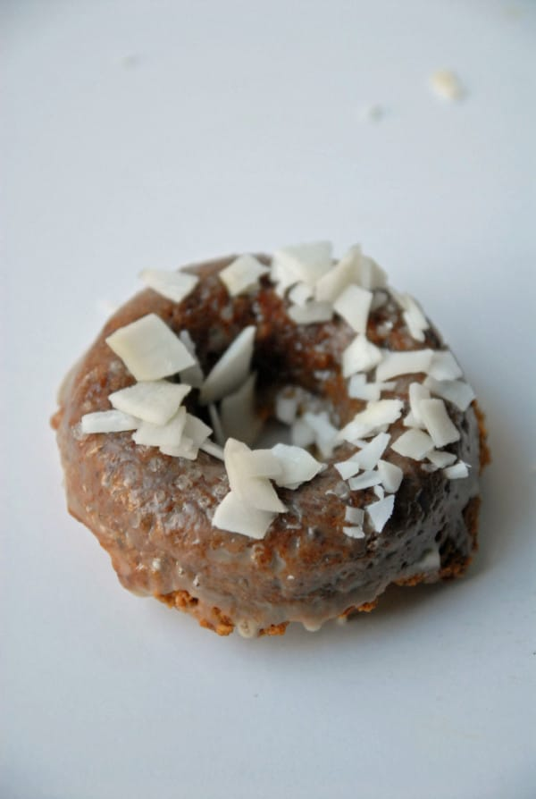 Vegan Maple Doughnuts with Maple Glaze and Sea Salt