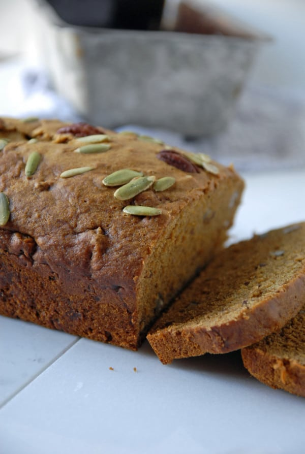 Pepita and Pecan Pie Pumpkin Bread