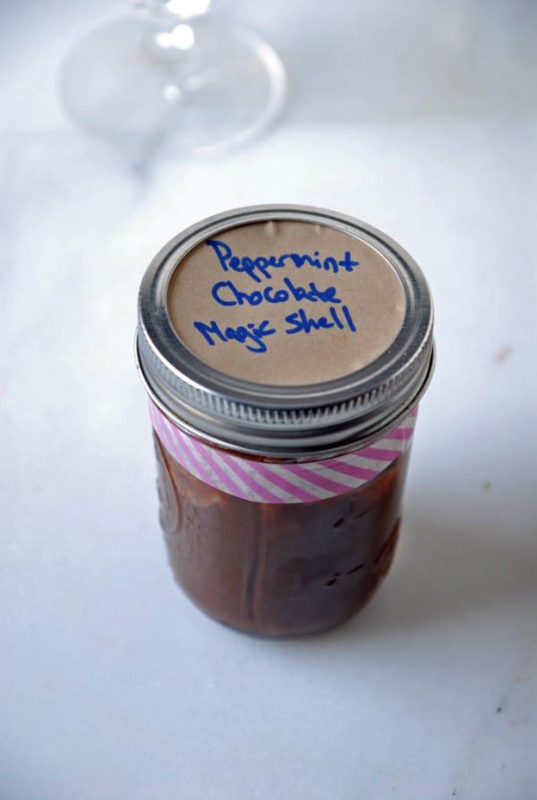 peppermint chocolate magic shell
