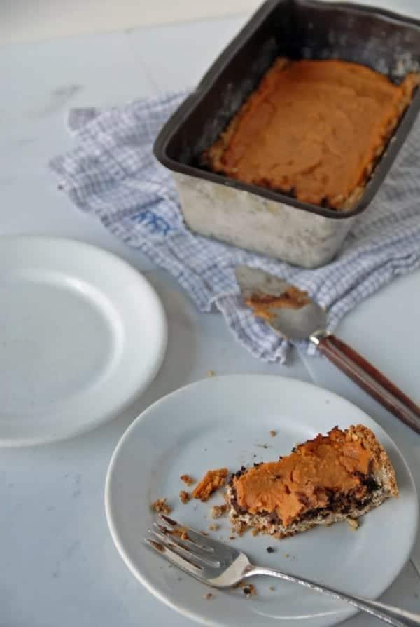 Dark Chocolate and Sweet Potato Tart with Maple Oat Crust