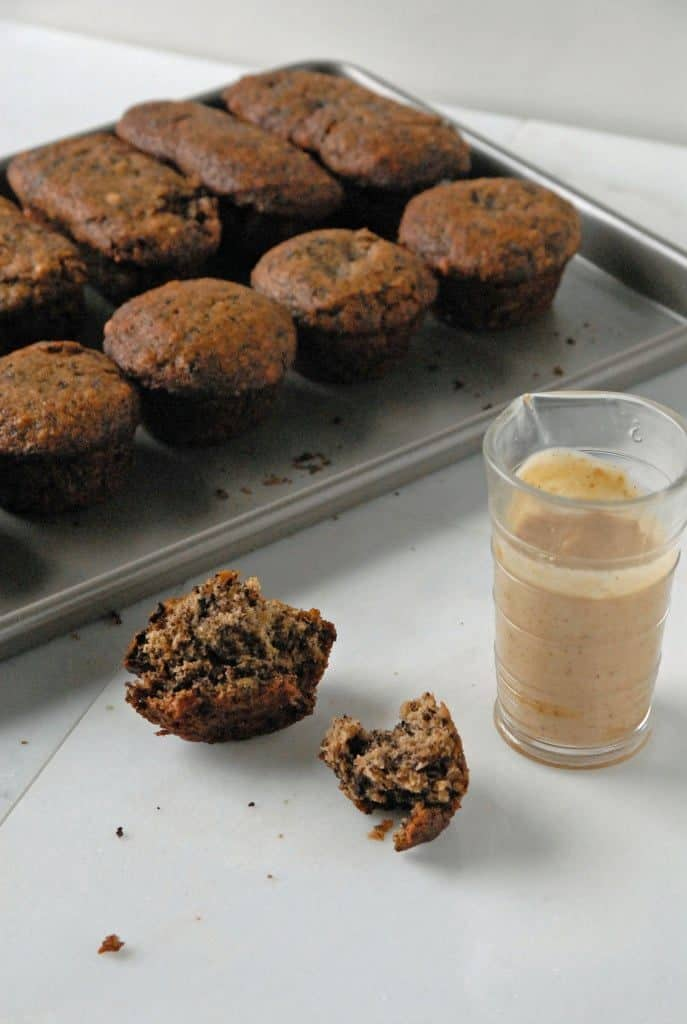 Dark Chocolate Chunk Banana Bread Muffins