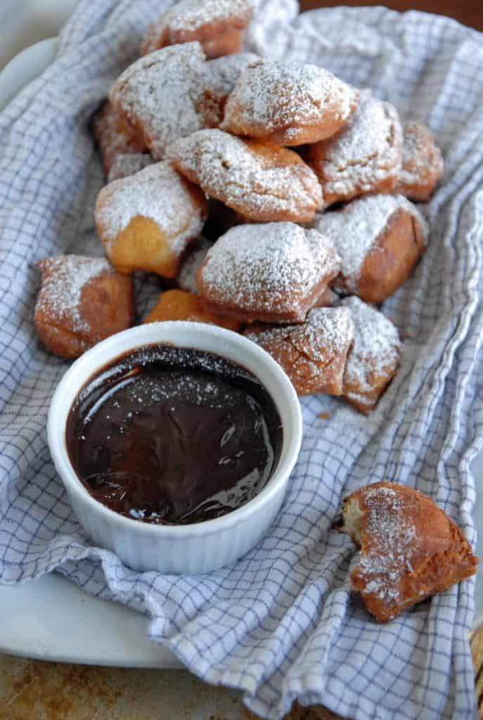 Vegan beignets are a vegan version of the always popular Mardi Gras day treat! Dipped in a dark chocolate espresso sauce.