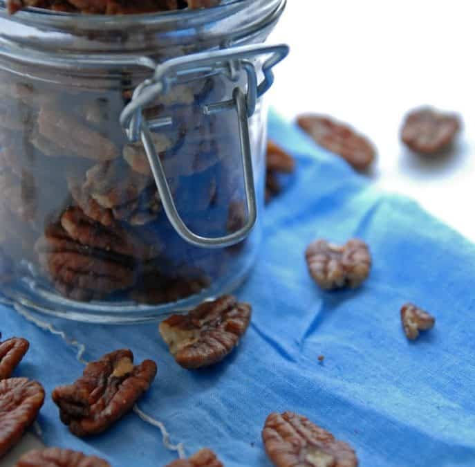Spicy Garlic Pecans