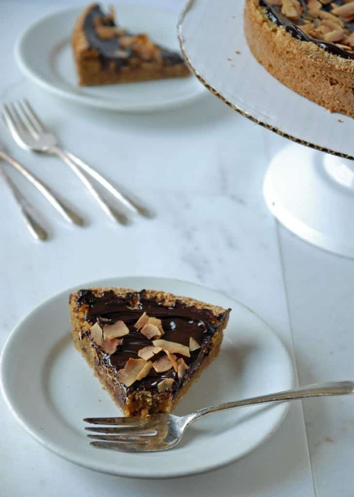 Chocolate Ganache Topped Sugar Cookie Pie