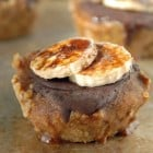 Mini Banana Espresso Tarts with Maple Walnut Crust {No Bake}