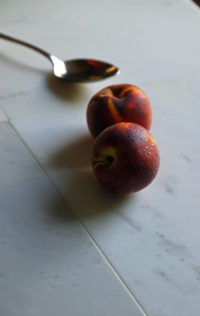 Simple Vegan Peach Crisp