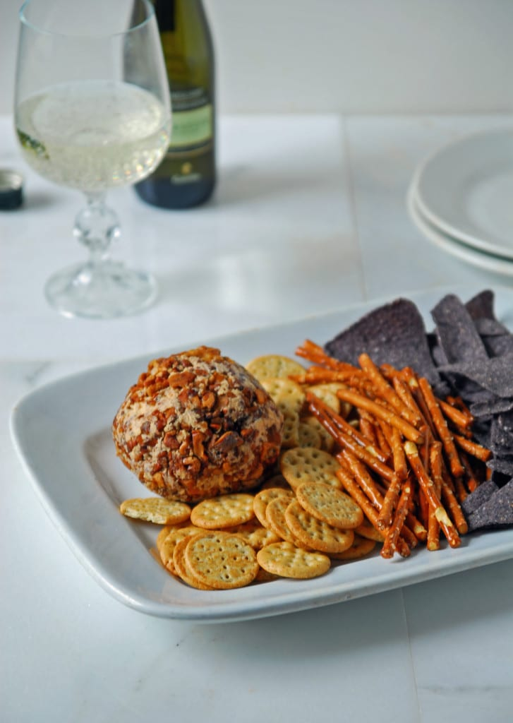 spicy cheese ball on a plate
