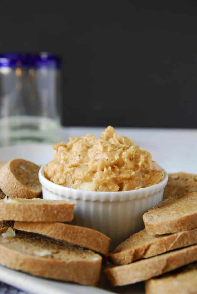White Bean Dip with Garlic Rubbed Toasts