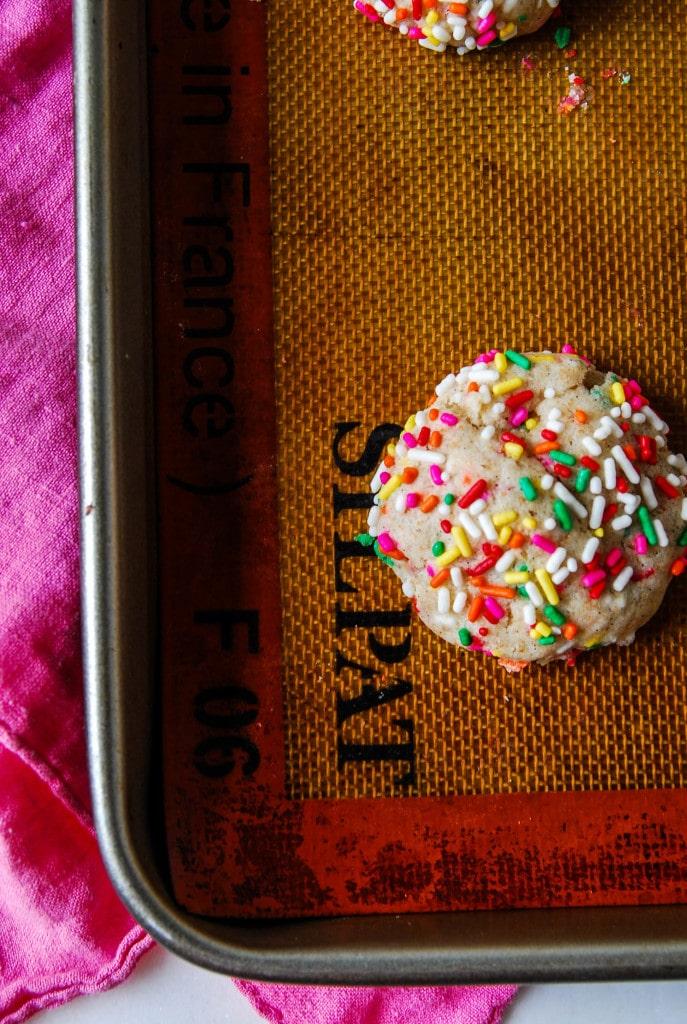 Funfetti Vegan Sugar Cookies close up