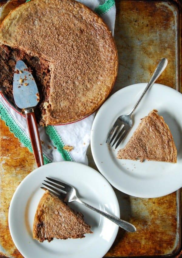 Vegan Chocolate Swirl Cheesecake with Chocolate Cookie Crust