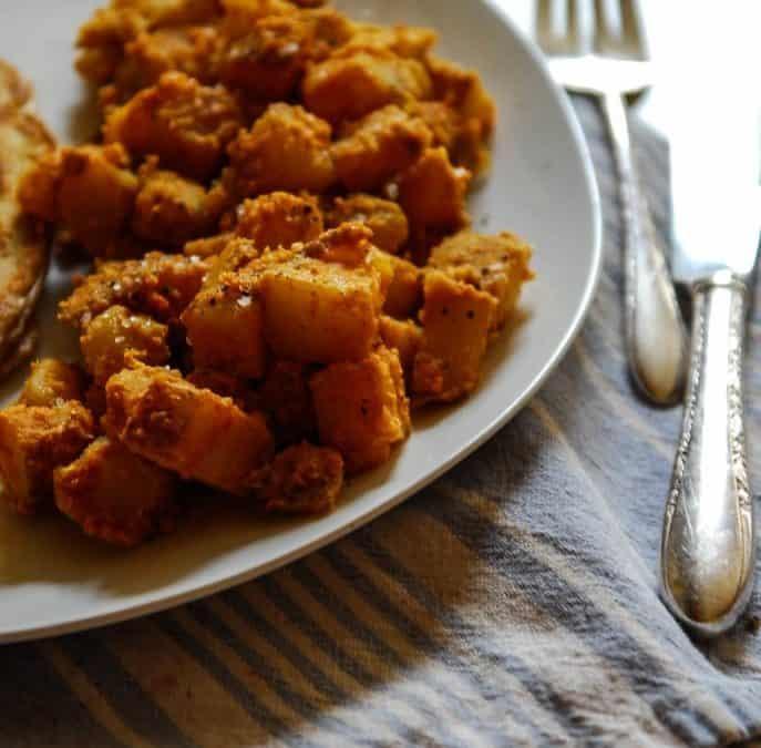 Easy Cheesy Vegan Breakfast Potatoes