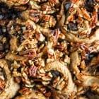 Maple Pecan and Dark Chocolate Cinnamon Rolls//heartofabaker.com