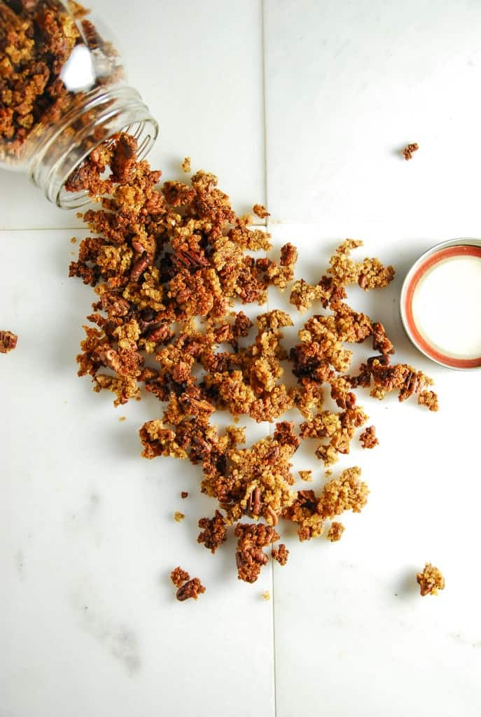 Toasted Millet and Pecan Granola (Gluten Free)//heartofabaker.com